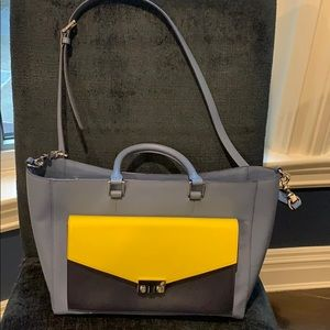 Authentic Tory Burch Pocketbook, Blue and Yellow